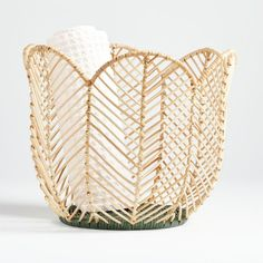 Naturally gorgeous and super-sturdy, our Flower-Shaped Basket is a boho touch that'll beautify kids rooms and nurseries. Made from on-trend rattan, it's even fashionable enough to fit into shared spaces like the family room. Kids Storage Bins, Storage Baskets, Lp Storage, Record Storage, Unique Furniture, Custom Furniture, Rattan Furniture, Space Furniture, Big Girl Rooms
