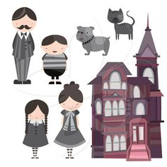 Goth Family Clip Art Clipart Set - Commercial and Personal use
