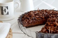 : Tarta fina de chocolate