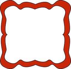 school carnival clip art   Red Curvy Frame - curvy frame with a red border. The center of the ...