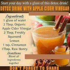 Vinegar detox drink