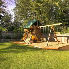54 Interesting Small Backyard Playground Landscaping Decor Ideas - Page 38 of 55 Large Backyard Landscaping, Modern Backyard, Fire Pit Backyard, Backyard For Kids, Landscaping Ideas, Backyard Camping, Landscaping Software, Wood Chips Landscaping, Outdoor Camping