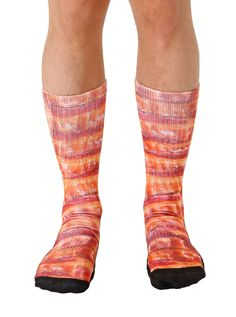 Bacon Sport Socks - Vultures and superficial males will eat your feet off