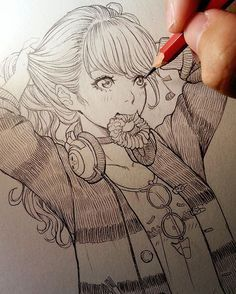 Marvelous Learn To Draw Manga Ideas. Exquisite Learn To Draw Manga Ideas. Anime Drawings Sketches, Anime Sketch, Manga Drawing, Manga Art, Anime Art, Pencil Drawings, Drawing Faces, Manga Anime, Amazing Drawings