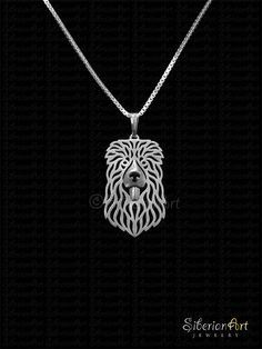 Caucasian Ovcharka  jewelry  sterling silver pendant and