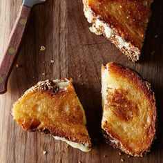 Use mayonnaise instead of butter on the outside of the bread, for a more evenly cooked and browned grilled cheese sandwich.