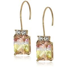 Betsey Johnson Marie Antoinette Tourmaline Faceted Stone Drop Earrings ($25) ❤ liked on Polyvore featuring jewelry, earrings, betsey johnson, drop earrings, stone drop earrings, tourmaline jewelry and tourmaline earrings