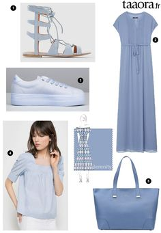 ed4731ef40c62 Couleur Bleu Serenity printemps-été 2016   le top 5 shopping ! – Taaora – Blog  Mode, Tendances, Looks