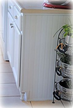 Attach 'feet' to cabinets