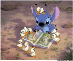 Stitch y patitos bebes..!