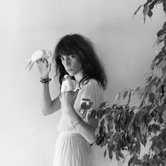 Patti Smith with doves.