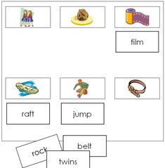 Sheets & Labels (Step - This work includes phonetic words that are letters in length. This set has 6 sheets with 6 pictures on each, and 36 word labels. A great addition to your Montessori Phonetic Language Series. Blue Words, Four Letter Words, Montessori Classroom, Printable Labels, Printables, Title Card, Montessori Materials, Word Pictures, Language Activities