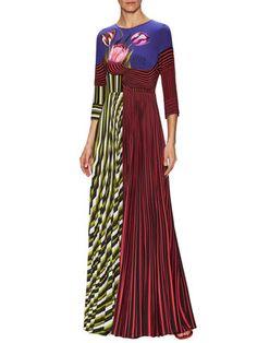 Mary Katrantzou - Carni Pleated Printed Gown