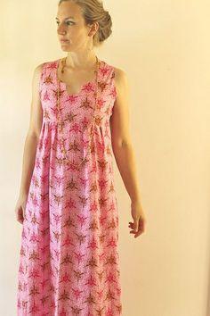 Pink washi maxi dress by madebyrae, via Flickr