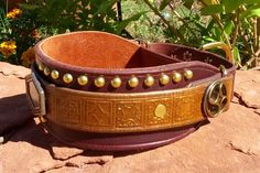 Steampunk: Plates and Valves - martingale collar.
