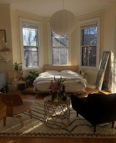 Airy Bedroom, Home Bedroom, Bedroom Decor, Bedroom Ideas, Bedroom Wall, Master Bedroom, Aesthetic Room Decor, Dream Apartment, Apartment Door
