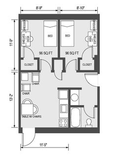 Dormitory Room Dimensions Images Architecture