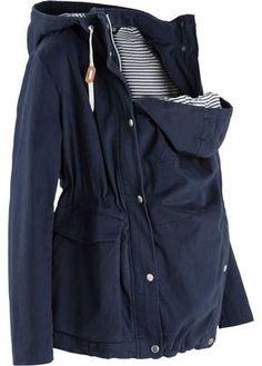 Veste de grossesse de mi-saison avec empiècement pour bébé bleu foncé - bpc bonprix collection - bonprix.fr
