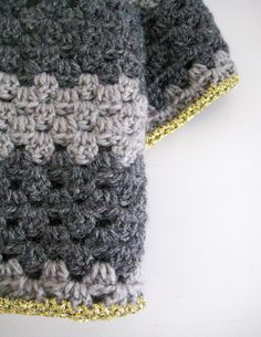 Hand crocheted cosy  cool scarf by Old Yarns.