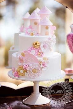 Princess Castle & Blooms Cake » Princesses & Tiaras ~ The Royal Celebration Zone