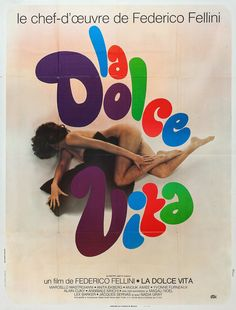 Federico Fellinis La Dolce Vita French Poster MM
