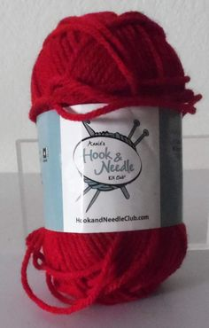 Items similar to Annie's Hook & Needle Kit Club 100 % Acrylic Yarn in Red on Etsy Cheap Yarn, Annie, Club, Kit, Unique Jewelry, Handmade Gifts, Etsy, Kid Craft Gifts, Craft Gifts