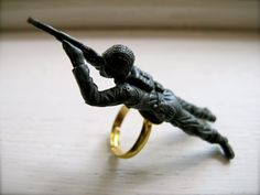 toy soldier, ring, from Produkt on Etsy