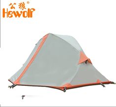 61.04$  Watch now - http://alip68.worldwells.pw/go.php?t=32553017314 - Hewolf 1 person Aluminum pole rain proof hiking travel trekking cycling riding mountaineering fishing beach outdoor camping tent