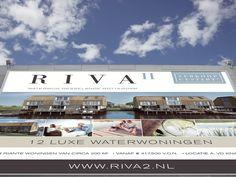 Ontwerp en opmaak bouwbord Riva2 Waterwijk Nesselande Verkoopcampagne Thing 1, Cup Design, Graphic Design Studios, Rotterdam, Desktop Screenshot, Art, Craft Art, Kunst, Gcse Art