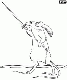 narnia coloring pages reepicheep song - photo#1