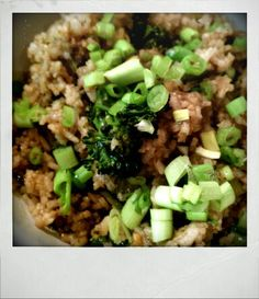 Vegan Fried Rice,,,  See www.earthyconsumer.blogspot.com for recipe of the week!!!