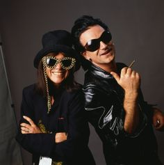 Bono with Lynn Goldsmith Adam Clayton, U2 Achtung Baby, Rock And Roll, Lynn Goldsmith, Paul Hewson, Irish Rock, Alternative Rock, Music Photographer, U 2