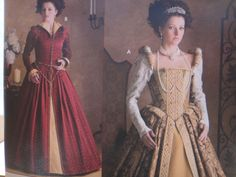 Simplicity 3782, Elizabethan Costume by Andrea Schewe, Dress Size 14-20