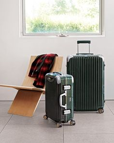 The Best Wedding Registry Ideas for Travel Lovers   As seasoned travelers, you can't forget the basics. Use your wedding registry to invest in some quality luggage like a hardcover collection.