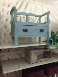 Hobby lobby blue bench