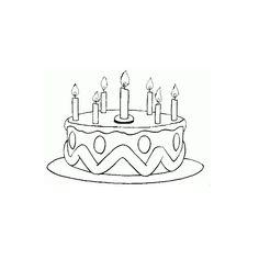 Dessin gateau anniversaire maternelle pinterest - Gateau d anniversaire a colorier ...