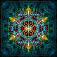 Flower of Life Fractal Mandala by Lilyas