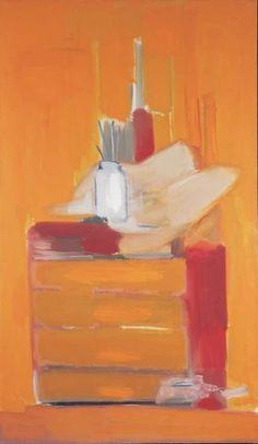 Nicolas de Staël, Atelier fond orangé (Atelier), 1955, huile sur toile, 195 x…