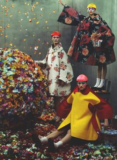 comme des garcons f/w 2012 rtw, steven meisel for vogue italia collections july 2012