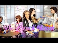 How to Make a Doll Lunchroom - YouTube