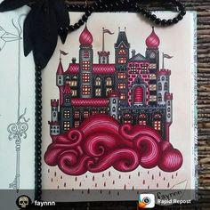 Very beautiful @faynnn Use #arte_e_colorir para aparecer aqui. #coloriage…