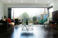 Solid dark oak wood floor