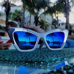 Karen Walker Sunglasses #karen #walker #sunglasses #blue #fun