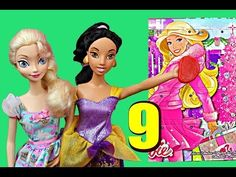Barbie Birthday Month Surprise Daily Presents with Disney Frozen Elsa Hans Advent Calendar Day 9