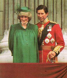 Diana au trooping of colour , le 12 juin 1982