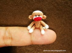 I think we all need a tiny crochet monkey in our lives