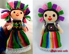 muñeca mexicana maría historia y muñeca de ganchillo crochet
