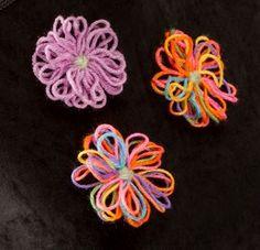 Yarn Flower Pins