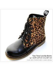 Two Tone Lace-Up Boots / See more at…