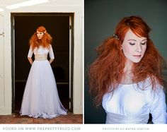 This girl could wear anything or nothing with hair like that!